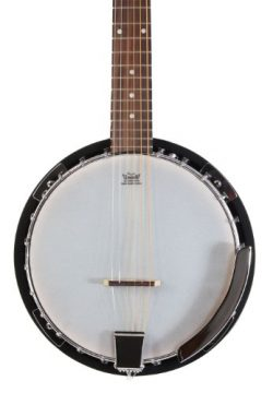 Left Handed 6 String Banjo Guitar with Closed Back Resonator and 24 Brackets