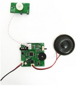 PIR Motion Sensor Activated Audio Playback Module (Record Message with Line-in or Microphone)
