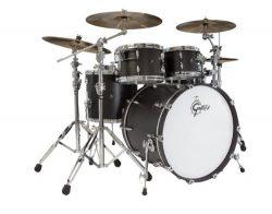 Gretsch New Renown Maple 4-Piece Euro Drum Set Shell Pack – Satin Black