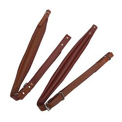 VGEBY Adjustable Accordion PU Leather Shoulder Straps for 16-120 Bass (Brown)