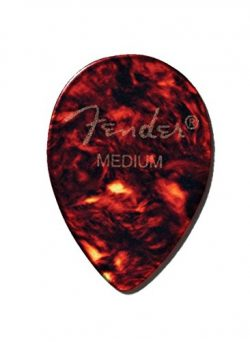 Fender 358 Shape Classic Celluloid Picks (72 Pack) for electric guitar, acoustic guitar, mandoli ...