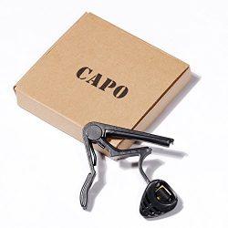 Beginner Guitar Capo,Acoustic Classical Electric Clamp Concert Tenor Ukulele Soprano Baritone Vi ...