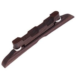 Kmise A1365 MTL-02 Mandolin Bridge 114mm Adjustable Compensated Rosewood