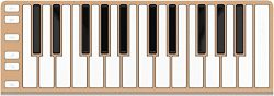 CME Xkey 25-Key MIDI Portable Mobile Musical Keyboard – Champagne