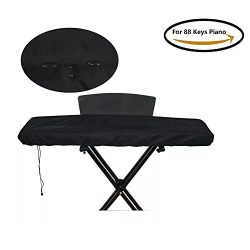 Wishing 88 Keys Electric Digital Piano Keyboard Cover piano Dust Cover with Adjustable Elastic C ...