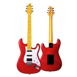 Mugig Electric Guitar 39 Inches, with Two Single-coil and One Humbucker Pickups, Glossy Surface  ...