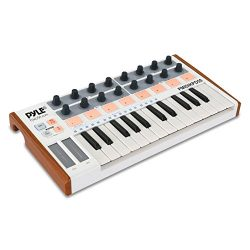Pyle USB MIDI Keyboard Controller – Portable Recording Equipment Kit w/ 25 Synth Piano Key ...