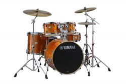 Yamaha Stage Custom Birch 5pc Drum Shell Pack – 20″ Kick, Honey Amber