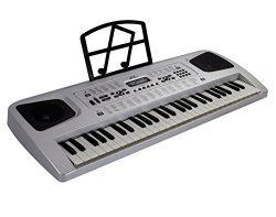 "54 KEY ELECTRIC KEYBOARD – Electronic Piano Organ Music Microphone RECORDING, 29.5"" L x 11 ..."