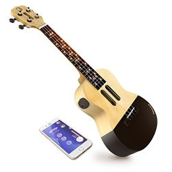 Popuband Populele Smart Ukulele with Accessory Kit – LED Fretboard – Bluetooth Conne ...