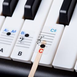 New – Keysies All Notes. Complete Note Range Piano Stickers For All Sizes of Keyboard
