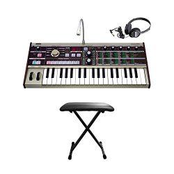 Korg microKORG Compact Modeling Analog Synthesizer with 8 band Vocoder and Microphone with keybo ...