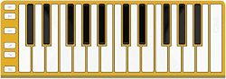 CME Xkey 25-Key MIDI Portable Mobile Musical Keyboard – Gold