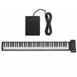 Flexzion Portable Roll Up Piano – Digital Electronic Keyboard with 88 Keys Soft Silicone F ...