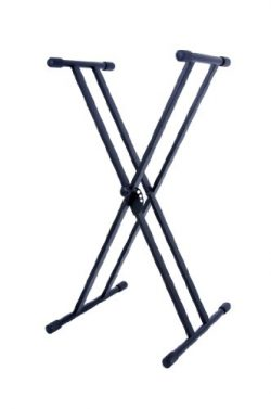 Stage Rocker Powered by Hamilton SR524200 Double X Style Keyboard Stand – Black