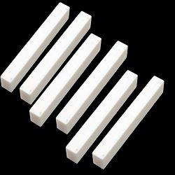 6Pcs Bone Guitar Nuts Blank For Electric Bass Acoustic Classical Guitar Mandolin Banjo Ukulele N ...