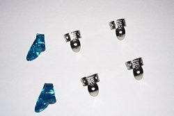 2 Small Blue Pearloid Thumb Pick and 4 NP2 National Finger Pick 100581; Banjo,  Dobro, Steel, Gu ...