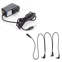 Antoble Power Supply Adapter for Guitar Effect Pedals 9V 1A with Free 3 Way Daisy Chain Splitter ...