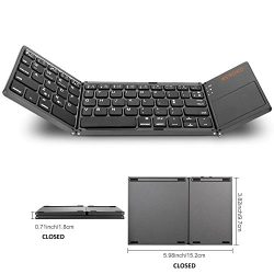 WSTECHCO Folding Bluetooth Keyboard for Tablet Samsung Smartphone Portable BT Wireless Foldable  ...
