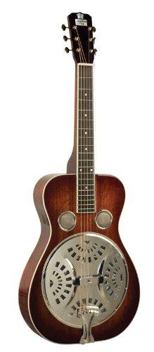 Recording King Roundneck Resonator Guitar, Mahogany, Vintage Sunburst