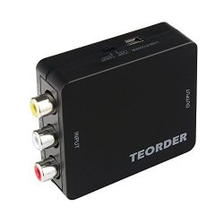 Teorder RCA Composite AV CVBS to HDMI Audio Video Mini Converter Adaptor Full HD 720P 1080P with ...