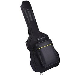CAHAYA 40 41 Inch Acoustic Guitar Bag Waterproof Dual Adjustable Shoulder Strap Guitar Case Gig  ...