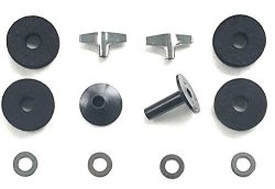 Drum Starz Accessory Bundle -2 Long CYMBAL SLEEVES, 4 Deluxe FELTS, 2 WING NUTS & 4 WASHERS