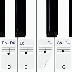 Stickers for Piano / Keyboards, 49,61,76,88 Key Full Set of Piano & Keyboard Music Note Stic ...