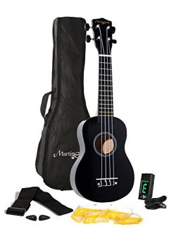 Martin Smith UK-312-BK  Ukulele Starter Kit – Includes lessons, tuner, strap, spare strings and  ...