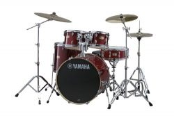 Yamaha Stage Custom Birch 5pc Drum Shell Pack – 20″ Kick, Cranberry Red
