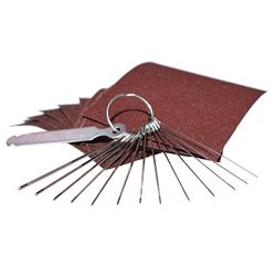 Guitar Bridge Saddle Nut Files Set – 13 Different Size Stainless Steel Needle Files with C ...
