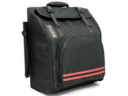 D'Luca DAG-12-BK Pro Series Accordion Gig Bag for 12 Bass Accordions, 1,2 and 3 Row Button ...