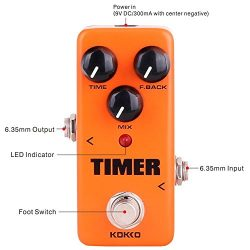 Timer Guitar Pedal, Mini Effect Processor Fully Analog Circuit Universal for Guitar and Bass, Ex ...