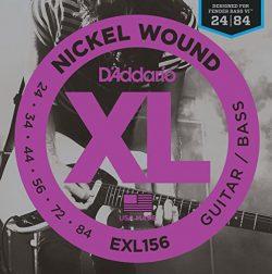 D'Addario EXL156 Nickel Wound Electric Guitar/Nickel Wound Bass Strings, Fender Nickel Wou ...