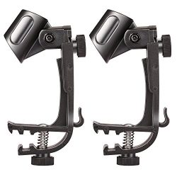 2pcs Microphone Holder Drum Hoop Rim Mount Shock Mount Mic Holder Clip