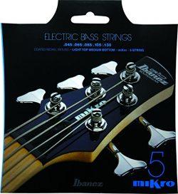 Ibanez Mikro Bass Guitar Strings IEBS5CMK IEBS Coated Nickel Bass Guitar Strings, Medium