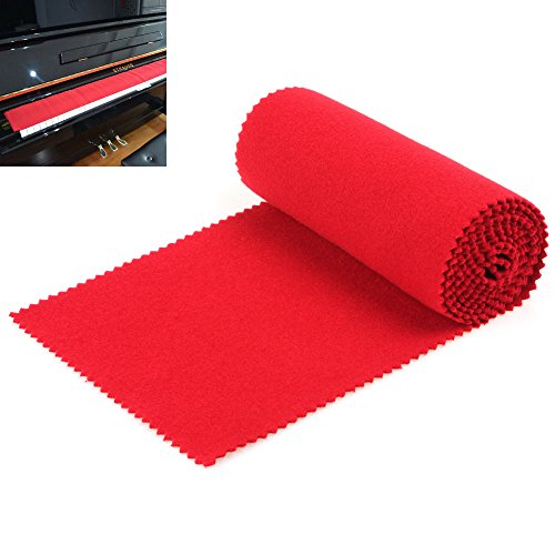 【Best Deals】OriGlam Red Soft Piano Keyboard Dust Cover, 88 Keys Protective Dust Cover Key Cove ...