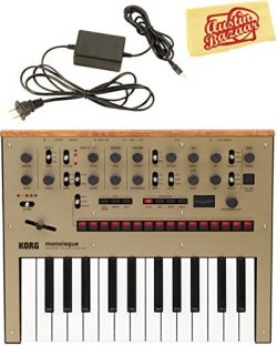 Korg Monologue Monophonic Analog Synthesizer – Gold Bundle with Power Supply and Austin Ba ...
