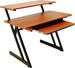 On Stage WS7500 Wood Workstation – Rosewood, Black Steel