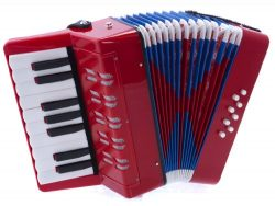 D'Luca G104-RD Kids Piano Accordion 17 Keys 8 Bass, Red