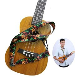 Jiuxun Ukulele Strap Adjustable Neck Strap in Various Length & Style Belt for Clip on Sopran ...