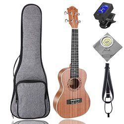 Concert Ukulele Ranch 23 inch Professional Wooden ukelele Instrument Kit With Free Online 12 Les ...