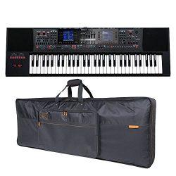 Roland E-A7 61 Key Expandable Arranger Keyboard & Roland Black Series Keyboard Bag Bundle