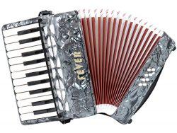 Fever Piano Accordion 22 Keys 8 Bass, Grey