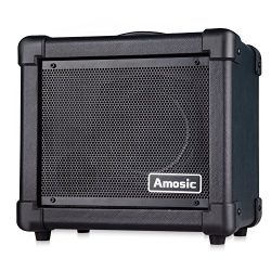 Amosic Guitar Amplifier 10W for Electric Guitar Household Bluetooth Mini Amp Power Supply by Bat ...