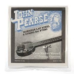 John Pearse Hawaiian Lap Steel Strings Pure Nickel C6 Tuning 15-34
