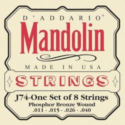 D'Addario J74 Mandolin Strings, Phosphor Bronze, Medium, 11-40