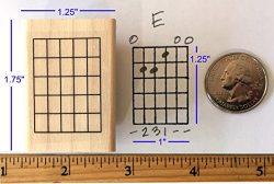Stampola Guitar Chord Stamp (Large) – 5 Fret