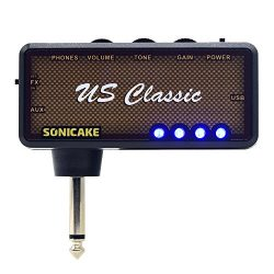 SONICAKE Amphonix US Classic Blues Overdrive USB Chargable Headphone Pocket Guitar Amp w/h Built ...
