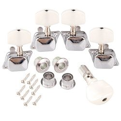 Semiclosed Head Tuner Tuning Peg Key Button + Bushing for Banjo Machine (Pack of 5)